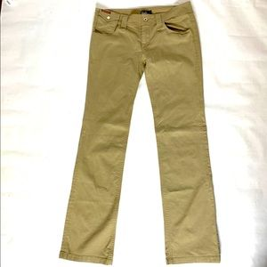 D&G Dolce and Gabbana Bootcut Low Rise Khaki Pants